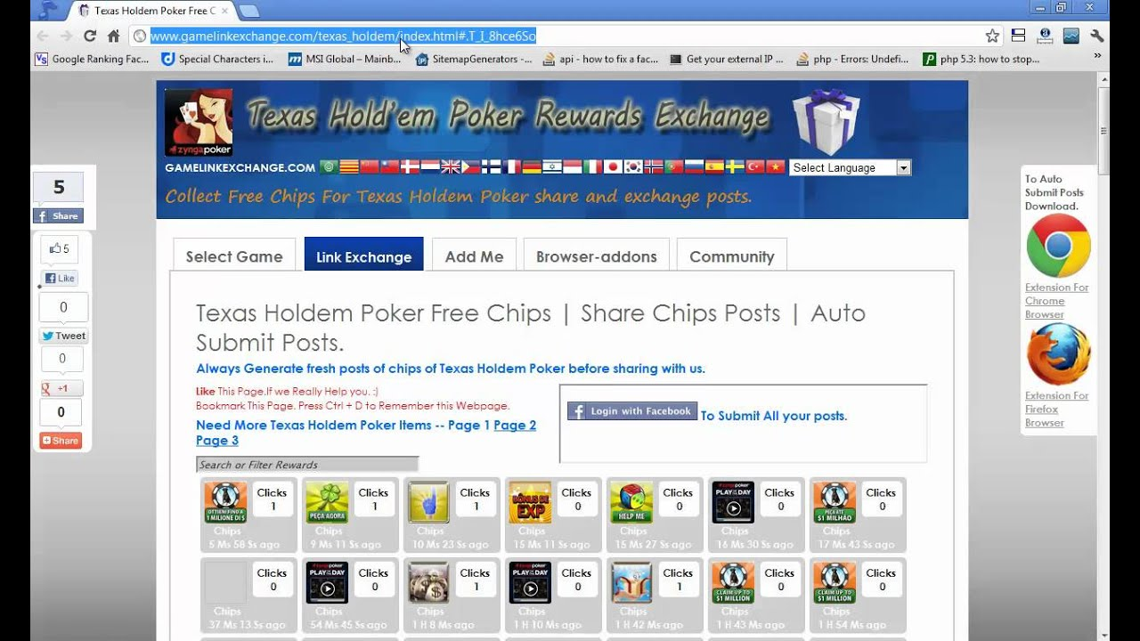 Free Texas Holdem Poker Chips