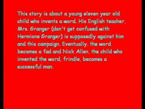 frindle book report Frindle book summary and study guide andrew clements booklist andrew clements message board detailed plot synopsis reviews of frindle nick allen was a.