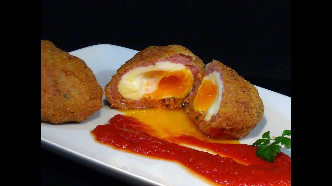Receta Huevos Escoceses o Huevos a la Escocesa - Receta ...