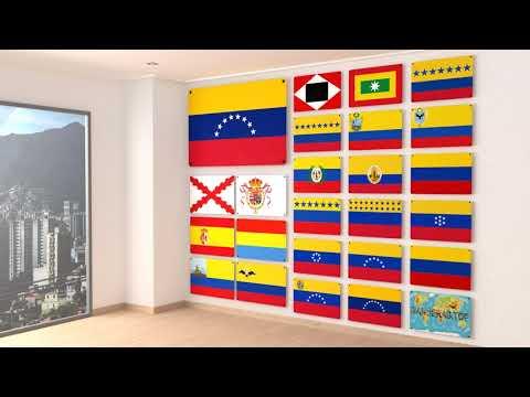 Himno y todas las banderas de Venezuela | Anthem and all the flags of Venezuela