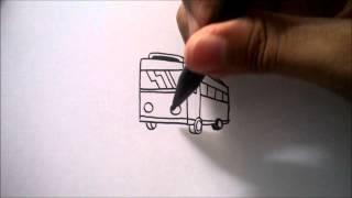 "CARA MENGGAMBAR BUS DARI HURUF ""F"" | HOW TO DRAW A BUS FROM A LETTER ""F"""