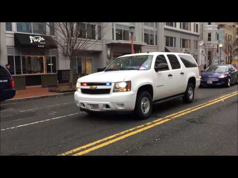 FEDERAL LAW ENFORCEMENT SUV RESPONDING DURING THE INAUGURAL CEREMONIES FOR PRESIDENT-ELECT TRUMP.