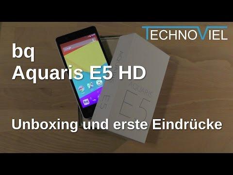 bq Aquaris E5 HD Unboxing und Kurztest - www.technoviel.de