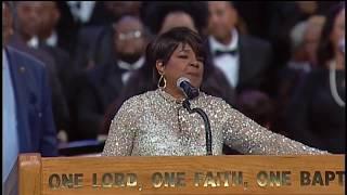 Pastor Shirley Caesar And Tasha Cobb Leonard At Aretha Franklin's Funeral Celebration Service