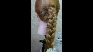 Простая и быстрая прическа  | Easy and quick hairstyle(В этом видео я вам покажу как делать прическу на каждый день. Музыка из видео: http://www.youtube.com/user/TheQLon Подписыва..., 2013-02-08T19:37:55.000Z)
