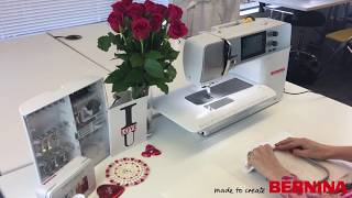 Personalise a bathrobe for your Valentine: Toolbox software & free-motion embroidery #3
