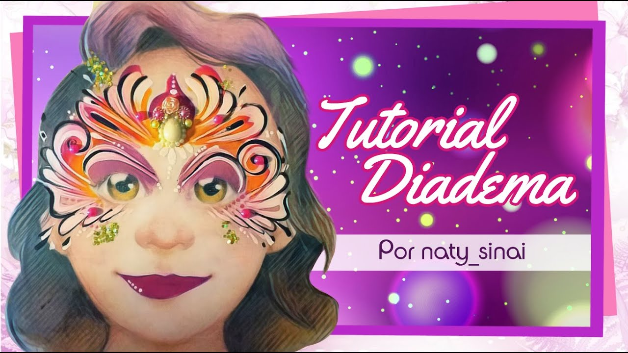 Tutorial Pintacaritas MAQUILLAJE Artístico Diadema de Princesa Princess Facepainting Queen