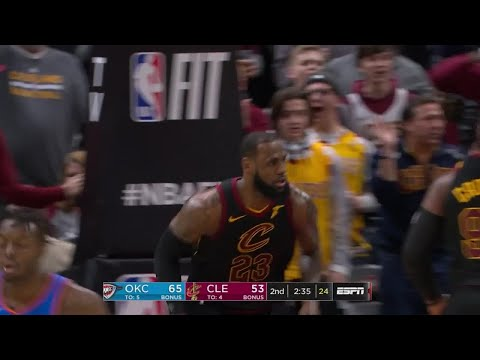 2nd Quarter, One Box Video: Cleveland Cavaliers vs. Oklahoma City Thunder