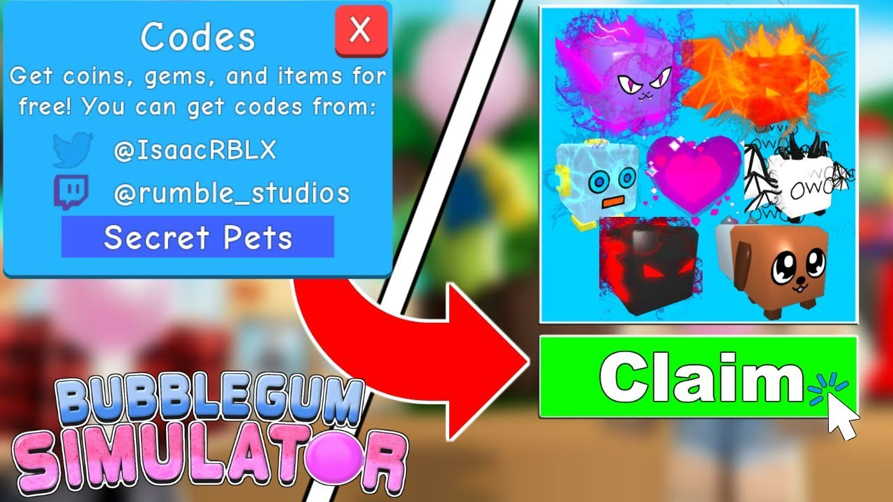 How To Get All The Secret Pets In Bubble Gum Simulator Stats Locations More Roblox Youtube