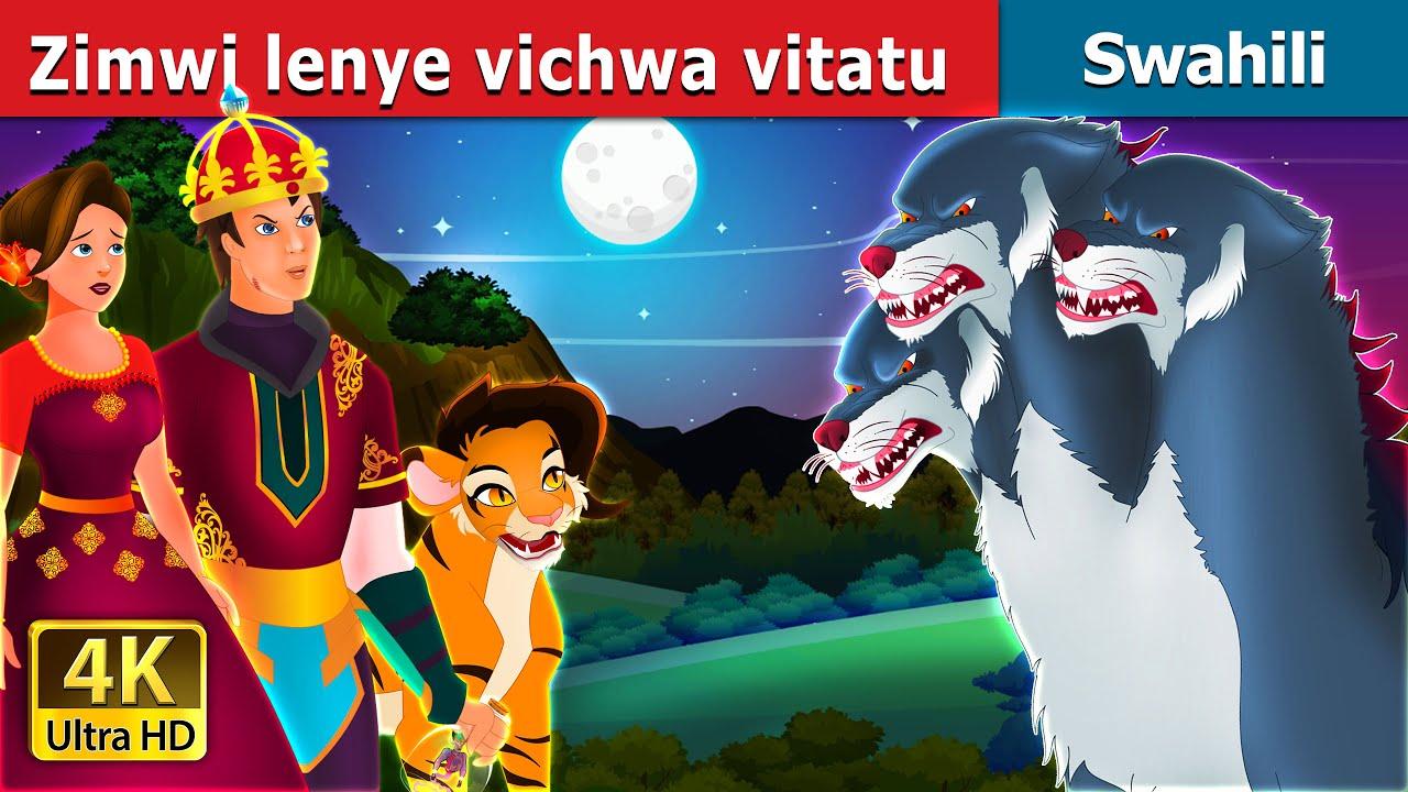Download Zimwi lenye vichwa vitatu  | The Three Headed Beast in Swahili  | Swahili Fairy Tales