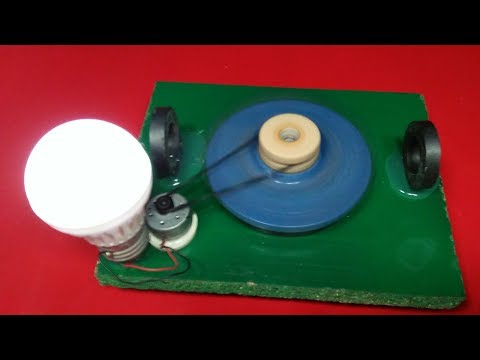 How ToMake Free Energy Generator High RPM motor Magnets 12v CD  light bulb 100% electricity project
