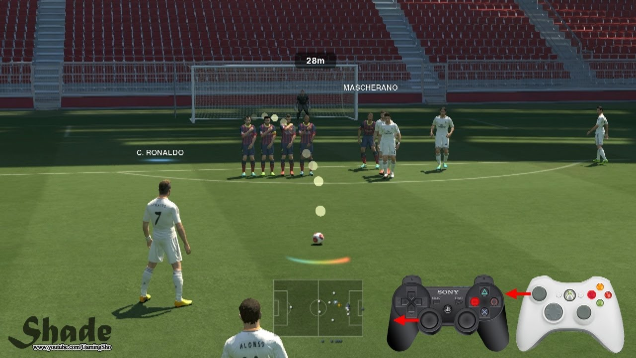 PES 2014 Free Kick Tutorial Xbox Amp Playstation HD