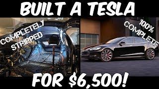 This Guy Built a Tesla Model S from Parts! Here