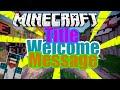 Title Welcome Message Plugin// Minecraft