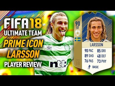 FIFA 18 PRIME ICON HENRIK LARSSON (90) PLAYER REVIEW! FIFA 18 ULTIMATE TEAM!