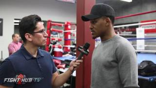 Daniel Jacobs responds to critics/fans who say once Golovkin touches him he's going down!