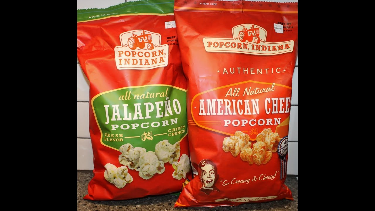 Popcorn Indiana Jalapeno And American Cheese Popcorn Review Youtube
