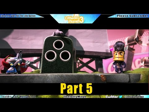 Little Big Planet 3 Walkthrough Gameplay part 5 - Manglewood Swamp - Thejollymage Lets Play (PS4)