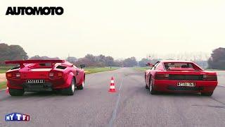 Défi : la Ferrari Testarossa (390ch) vs la Lamborghini Countach (375ch)