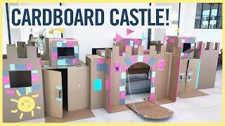 PLAY  CARDBOARD CASTLE w DRAWBRIDGE!