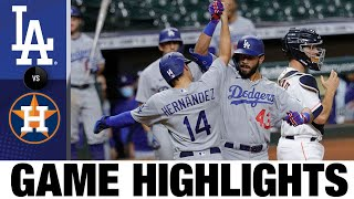 Edwin Ríos' lead-off 2-run HR in 13th lifts Dodgers | Dodgers-Astros Game Highlights 7/29/20