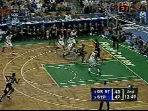 Carmelo Anthony Block vs. Oklahoma St 2003 NCAA Tournament
