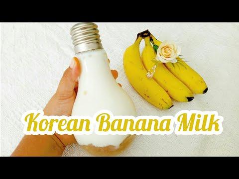 Korean Banana Milk Susu Pisang Korea Resep Mbuk Al 2020 Youtube
