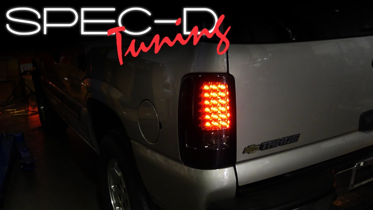 Specdtuning installation video 2000 2006 chevy tahoe gmc yukon led tail lights youtube