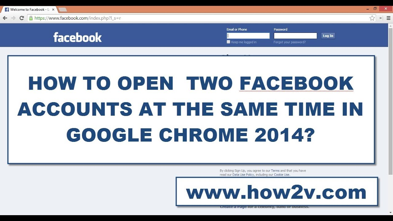 2 Facebook Accounts