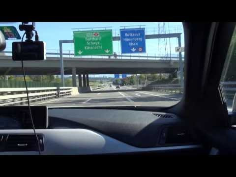 Schweizer Autobahn CH - A4 von Affoltern nach Steinen - Autos Motorrad CTL4world