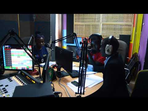 Youth Reporters at Hot FM radio Lusaka, Zambia during International Children's Day of Broadcasting.