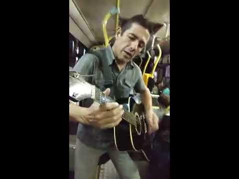 Street Music guitar player Montevideo, Uruguay