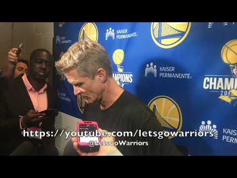Entire STEVE KERR postgame interview: road streak ending, turnovers and fouls, Steph Curry & Klay