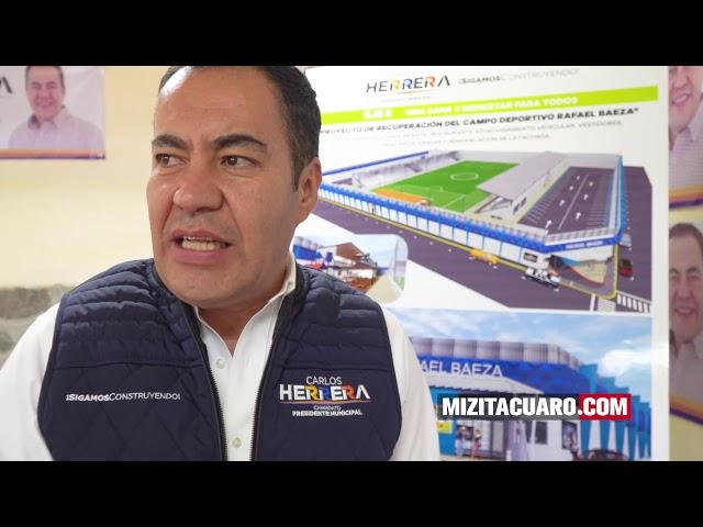 Será modernizado el Campo Deportivo 'Rafael Baeza': Carlos Herrera