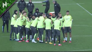 Manchester City Train Ahead Of Real Madrid Clash | Real Madrid v Manchester City | Champions League
