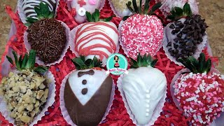 Fresas cubiertas de Chocolate 🍓🍫 ❤️ / San Valentín Día de Amor y Amistad / Negocio