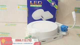 Đèn LED ốp trần nổi 6W, tròn: Thông số và hướng dẫn lắp đặt