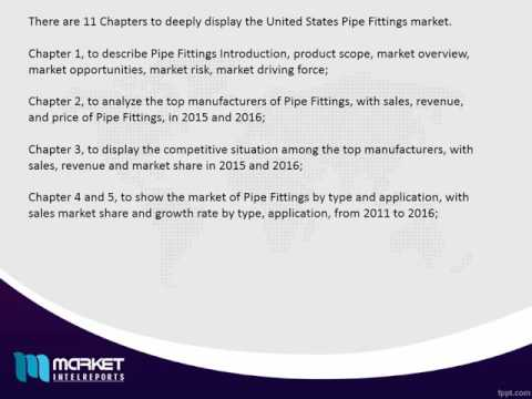 United States Pipe Fittings Media Market Is Up To Mark And Still In Process Of Developing