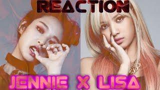 """ENGLISH RAP LYRICS // JENNIE & LISA BLACKPINK  Reaction  LISA X CRAZY - """"X ACADEMY TEASER VIDEO #3"""