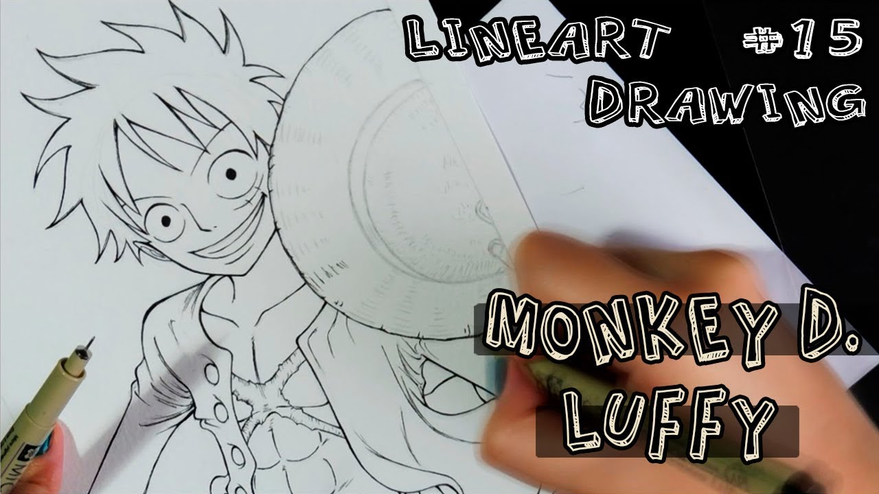 Lineart Drawing Speed 15 Monkey D Luffy One Piece