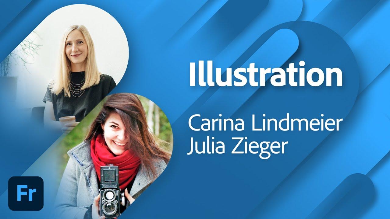 Illustration mit Carina Lindmeier und Julia Zieger  Adobe Live
