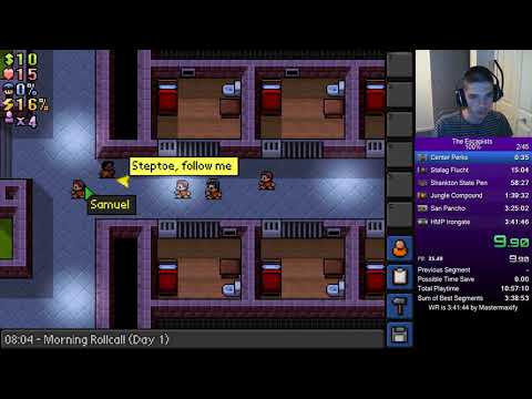 The Escapists - PC 100% Speedrun In  02:15:09 (Former World Record)