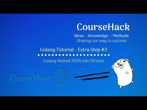 Golang Tutorial Extra Step 3 – Golang Nested JSON into Structs thumbnail