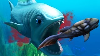 THIS FISH HAS EXTRA SHARP TEETH - Feed and Grow Fish - Part 27 | Pungence
