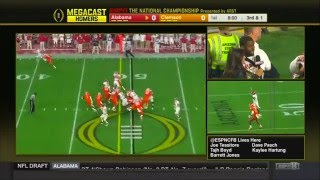Mark Ingram reacts to Derrick Henry touchdown on ESPNU Megacast