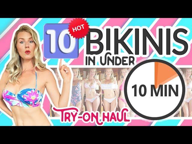 HOT BIKINI TRY ON HAUL | 10 Bikinis in 10 Minutes!