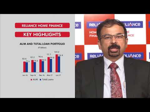 MR. RAVINDRA SUDHALKAR'S VIEWS ON #RCAPQ1FY18 RESULTS OF RELIANCE HOME FINANCE