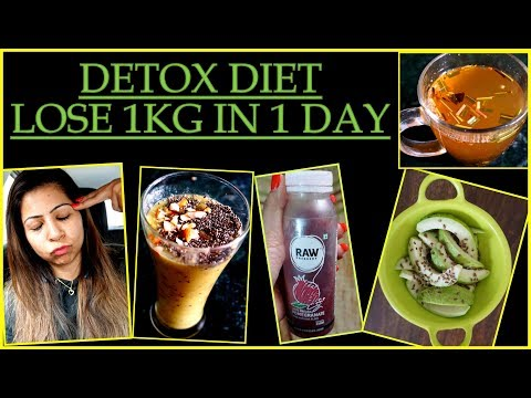 How To Detox Your Body In 1 Day | Detox Diet Plan | Detox Smoothie & Salad Recipes