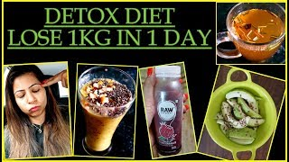 Detox Diet Plan to Lose Weight in Winter | How to Detox Your Body to Lose 1KG in 1 Day | Fat to Fab