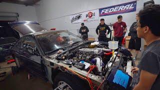 SR20DET IS ALIVE! Revving with turbo dump!